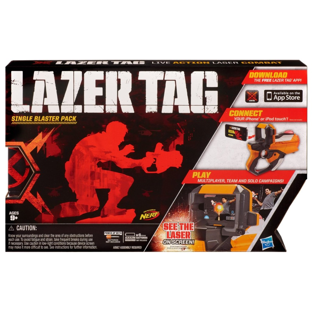 Lazer Tag Guns. Personally, I'd rather use a paint ball gun or modify one  of the electric Nerf guns. Those at least will leave a nice welt on Ray.
