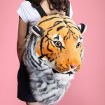 Realistic Looking Tiger Head Backpack