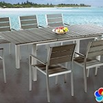 9 Piece Outdoor Patio Dining Set Extendable