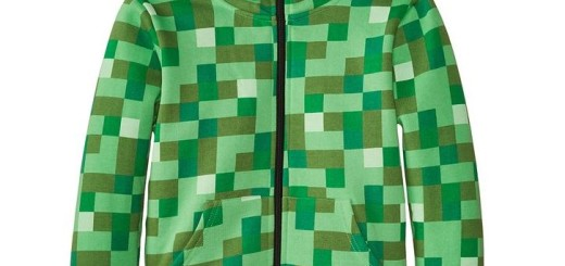 'Minecraft Creeper Hoodie' from the web at 'http://mytop10bestsellers.com/wp-content/uploads/2015/12/Minecraft-520x245.jpg'