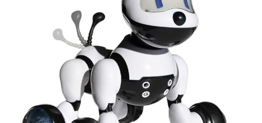 'Jenx Robot Interactive Puppy' from the web at 'http://mytop10bestsellers.com/wp-content/uploads/2016/11/robot-dog-520x245.jpg'